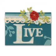 Live Flower & Vines Card