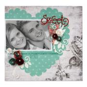 Sweet Heart Scrapbook Page