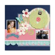 Celebrate Photo Wheel Scrapbook Page