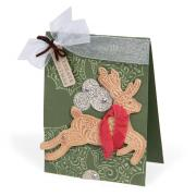 Celebrate Christmas Embossed Reindeer Card