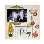 So Happy Holidays Scrapbook Page