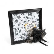 Happy Halloween Spiderweb in a Frame