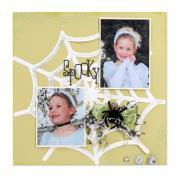 Spooky Spiderweb Scrapbook Page