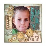 Lucky No.7 & Scrapbook Page