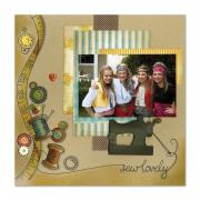 Sew Lovely Scrapbook Page