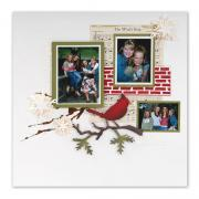 Winter Wonder Scrapbook Page