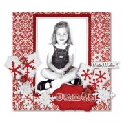 Winter Wishes Scrapbook Page