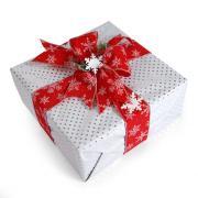 Glittery Snowflake Gift Topper