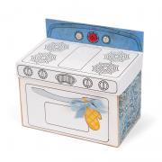 Vintage Oven-Shaped Recipe Box