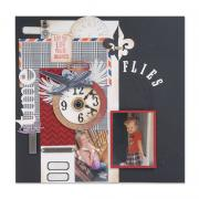 Time Flies Scrapbook Page