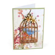 Mini Lilies & Birdcage Card