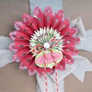 Celebrate Snowflake Rosettes Gift Topper