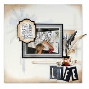 Life Is the ART Scrapbook Page