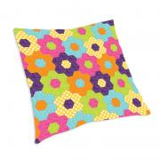 English Flower Garden Hexagon Pillow