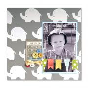 Bundle of Boy Elephant Scrapbook Page