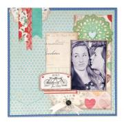 Built for Two Scrapbook Page