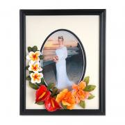 Tropical Flowers Wedding Frame