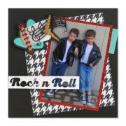 Rock 'n' Roll Forever Scrapbook Page