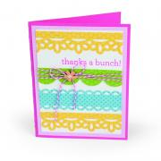 Thanks Lace & Scallops Card