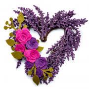 Winter Heart Wreath