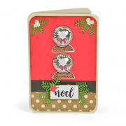 Noel Snow Globe Shaker Card