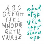 Sizzix Thinlits Die Set 2PK - Alphabet Set