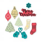 Sizzix Framelits Die Set 9PK w/Stamps - Christmas Classics