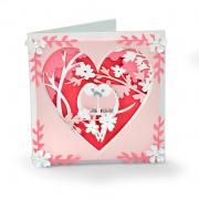 Love Birds Shadow Box Card