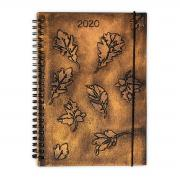 Leaf Print Journal Cover
