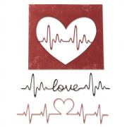Sizzix Thinlits Die Set 3PK - Heartbeat by Tim Holtz