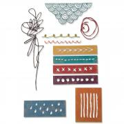 Sizzix Thinlits Die Set 11PK - Media Marks by Tim Holtz