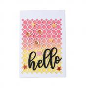 """""""Hello"""" Geo Trio Card"""