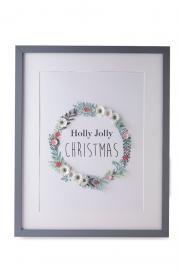 Holly Jolly Christmas Frame