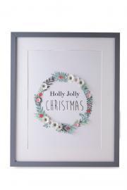 Holly Jolly Christmas Frame