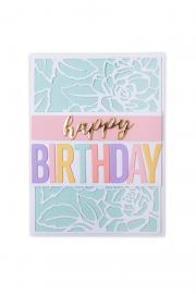 Bold Alphabet Birthday Card