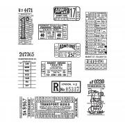 Stampers Anonymous Cling Mount Stamps - Ticket Booth by Tim Holtz