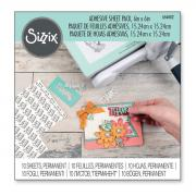 "Sizzix Making Essential - Adhesive Sheets, 6"" x 6"", Permanent, 10 Sheets"