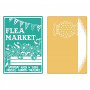 Sizzix Textured Impressions Embossing Folders 2PK - Flea Market & Hobnail Vase Set