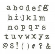 Sizzix Bigz XL Alphabet Die - Typo Lower by Tim Holtz