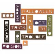 Sizzix Thinlits Die Set 14PK - Halloween Words: Thin
