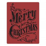 Sizzix Texture Fades Embossing Folder - Christmas Scroll by Tim Holtz