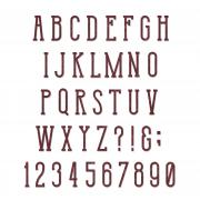 Sizzix Bigz XL Alphabet Die - Broadway by Tim Holtz