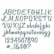 "Sizzix Thinlits Die Set 69PK - Alphanumeric, Script (1"" Tall) by Tim Holtz"