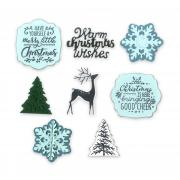 Sizzix Framelits Die Set 8PK w/Stamps - Christmas is Here
