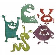 Sizzix Thinlits Die Set 5PK - Silly Monsters