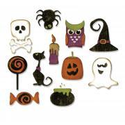 Sizzix Thinlits Die Set 11PK - Mini Halloween Things
