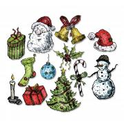 Sizzix Framelits Die Set 12PK - Tattered Christmas by Tim Holtz