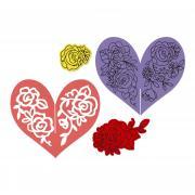 Sizzix Framelits Die Set 6PK w/Stamps - Heart Garland