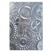 Sizzix 3-D Texture Fades Embossing Folder - Mechanics by Tim Holtz