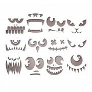 Sizzix Thinlits Die Set 12PK - Frightening Faces by Tim Holtz